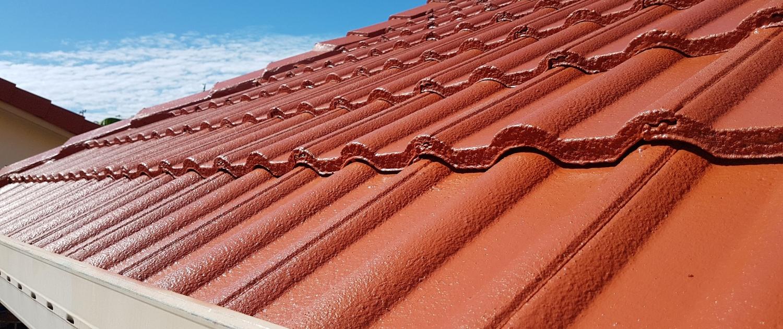 Tiled roof in Terracotta