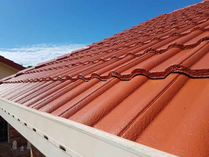 Tiled roof in Terracotta