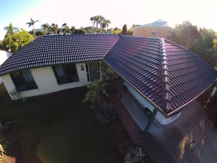 Tiled Roof Painting Charcoal Roofguard