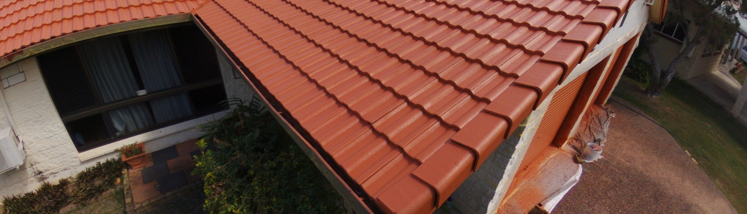 Tiled Roof Paintinted in Terracotta Roofguard